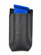 NEW Barsony Black Leather Single Mag Pouch for Colt 380 & Ultra Comp 9mm 40 45