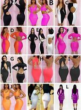 Hot Womens Sexy Slim Fit Cocktail Bodycon Bandage Dress Clubwear Evening Dress M