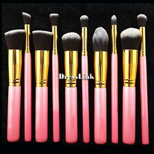 10 Pcs Trucco Cosmetici Pennelli Make Up Brush Set Pennelli Tool Nuovo DL0