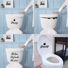 Quote iPoop Monster Toilet Seat Tank Door Bathroom Sticker Home Wall Decal Decor