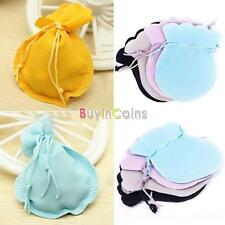 5/10/50 9x7cm Velvet Drawstring Pouches Coin Jewelry Wedding Gift Jewelry Bag