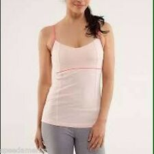 NWT Lululemon Light Pink Luminous Yoga Tank Top without Cups Size 4 $52