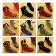 2013 Hot 9 colors Women's Lace Up Winter Boots Flat Ankle Shoes Spring Autumn #2