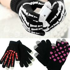 Magic Touch Skeleton Screen Gloves Smartphone Mittens Stretch Adult Touch Gloves