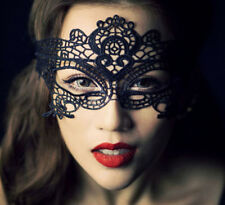 STUNNING VENETIAN MASQUERADE EYE MASK HALLOWEEN PARTY LACE FANCY MASK BLACK