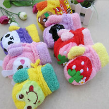 HOT Cute Girl Cartoon Soft Mitten Baby Kids Child Warm Winter voice Gloves 06