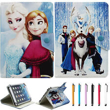 "7"" Universal Disney frozen Image Leather Stand Cover Case For 7 Inch tablet PC"