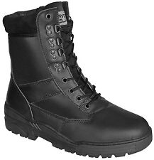 Kombat Black Leather Army Combat Patrol Boots Tactical Cadet Military Security