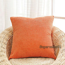 Neu 40/45/50cm Platz Kissenbezug Cord Sofa Kissenhülle Pillow Case Cushion Cover