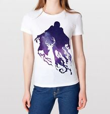 Galaxy Expecto Patronum Harry Potter Deathly Hallows Lord Voldemort Shirt White