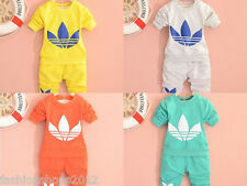 2014 New cotton Toddlers children baby boys girls autumn spring clothing set F1