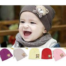 Cute Baby Infant Dot Bear Cap Crochet Beanie Woolen Hat Birthday Gift Boy Girl