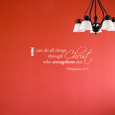 I can do all things through Christ who strengtens me Philippians 4:13 Wall Decal