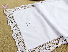 Gorgeous White Hand embroidered Bobbin lace Table Runner Doily 2 sizes