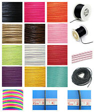 10M x 1mm, 1.5mm or 2mm Nylon or Wax Cotton Cord, Shamballa, Jewellery Making,