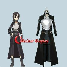 Sword Art Online 2 Ghost Bullet Kazuto Kirigaya Kirito Uniform Cosplay Costume