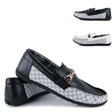 Mens Casual Snakeskin Flats Loafer Slip Ons Soft Fashion Driving Moccasins Shoes