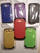 Hard Mesh Silicone Combo Back Case For  Samsung  Galaxy S3 New + Free screen