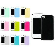 TPU Candy Colour Soft Skin Back Case Cover Protector For Apple iPhone 4S 4 3G 4G