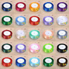 "1 Roll 25 Yards 1""(25mm) Satin Ribbon Bow Wedding Supply Craft Sewing Decoration"