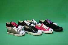 New Women Canvas Sneakers Classic Lace Up Shoes Casual Size 5 - 6 - 7 - 8 - 9-10