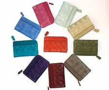 Genuine Eel Skin Leather - Small Mesh Purse (with 4 card slots)