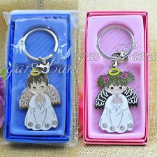 12 PCS Angel Girl Key Chain Favor Baptism First Communion Christening Bautizo