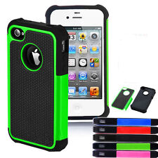 For iPhone 4 4G 4S Nice Colorful Hybrid Rugged Silicon Protective Case Cover