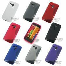 Silicone Gel Rubber TPU Skin Case Cover for Motorola Moto G ,DVX ,XT1032 + Film