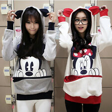 Newest Girls Womens Mickey Mouse Ear Emo Sweater Jumper Hoodie Comfortable
