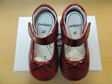 Pediped Isabella Red RS302 - Sizes 6 - 12.5  NEW - Podiatrist Approved
