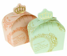 50/100 X 3 Colors Wedding Crown Favor Gift Candy Boxes