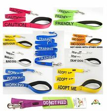 Short Standard & Extra Long Nylon Dog Leads With Padded Handle + Pet Dog Collars