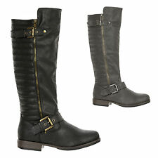 New Bamboo Knee High Side Buckle Zipper Riding Boot MONTAGE-87X