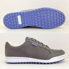 ASHWORTH CARDIFF SPIKELESS GOLF SHOES IRON/WHITE/BLEACHED DENIM  G54229  NEW!!