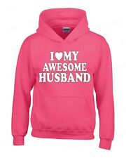 I Love my AWESOME Husband HOODIE birthday wedding Anniversary hooded sweatshirt