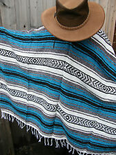 New Authentic Handcrafted Mexican Poncho Cowboy,Western,Festival,Clint Eastwood