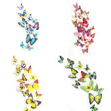 Pop 3D Butterfly Sticker Art Decal Wall Stickers Home Decor Room Decorations HOT