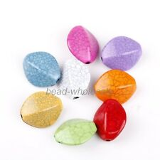 Stylish Multi-color Marquis Cracks Turquoise loose Spacer Beads Jewelry 20 pcs