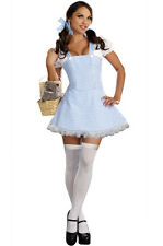 Blue Gingham Dorothy Wizard Of Oz Dress Adult Halloween Costume