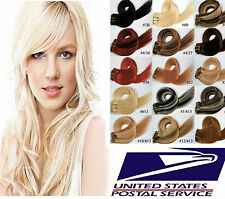 USA STOCK Remy Clip In Hair 100% Real Human Hair Extensions,16In.-30In.,Brown B