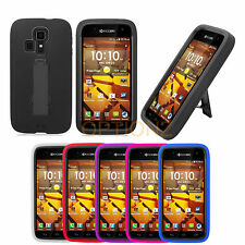 For Kyocera Hydro Life C6530 Rugged Impact Hybrid Skin Hard Case Cover Kickstand