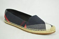 BURBERRY shoes flip flops sandals flat espadrilles hodgeson navy blue check