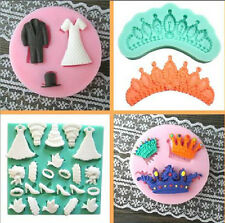 3D Wedding Crown Chocolate Model Mold Fondant Cake Decorate Silicone Cutter Tool