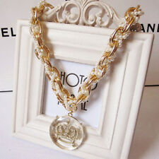 Han edition of the new crown pearl crystal metal chain pendant necklace