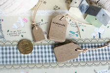 shabby chic rustic East of India Small SHOP LABELS scallop swing craft hang tags