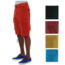 Most Official Seven Herren Cargo-Shorts mit Gürtel - Light Wash