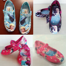 Kid Girl Frozen Princess Anna Elsa Queen Faux Leather Shoes Dancing Shoes Disney