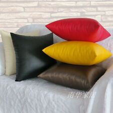 2013 fashion solid color PU leather sofa cushion covers pillow cover 5 Colored
