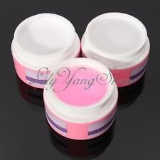 3 Colors Nail Art UV Gel Builder Tips Glue Extension Clear Pink White Manicure